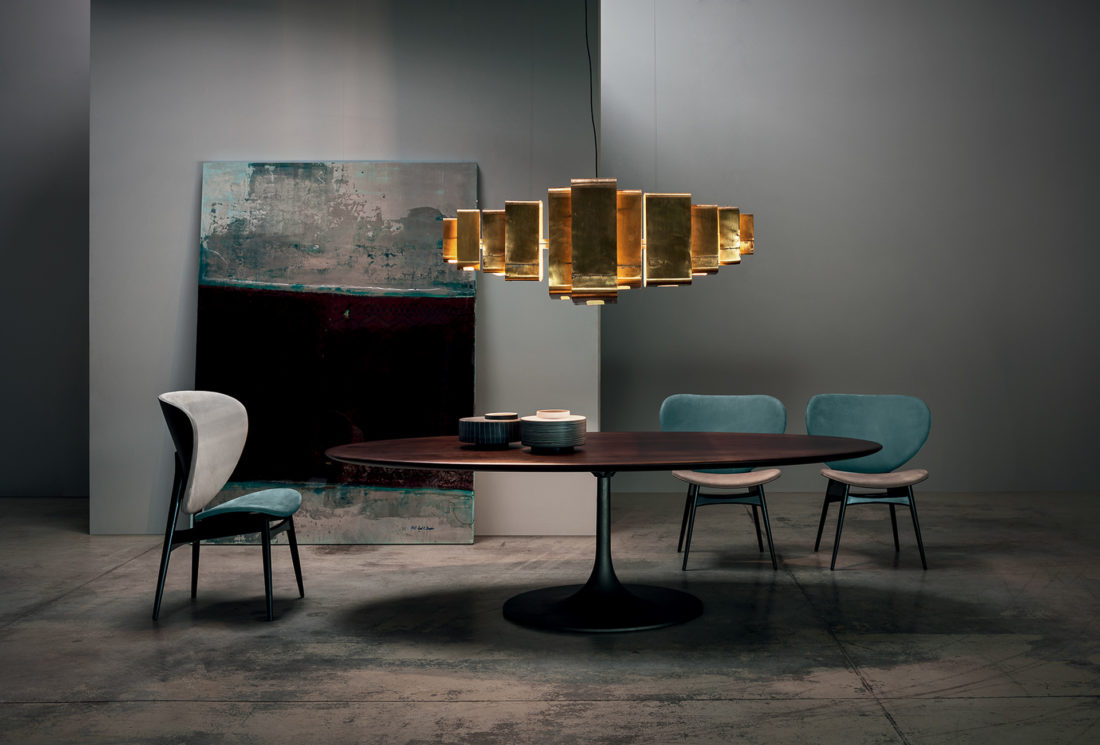 Stühle mod. ALMA + Tisch mod. BOURGEOIS