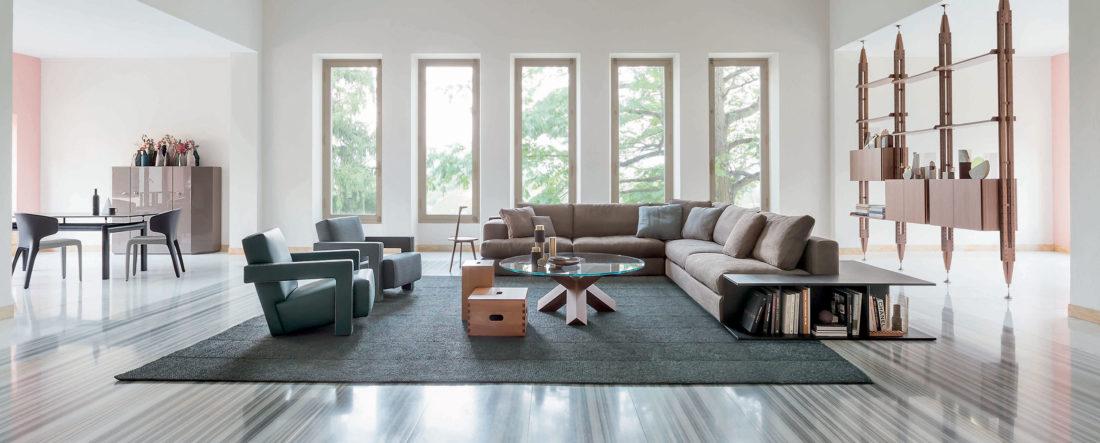 Sofa mod. MILOE + Sessel mod. UTRECHT