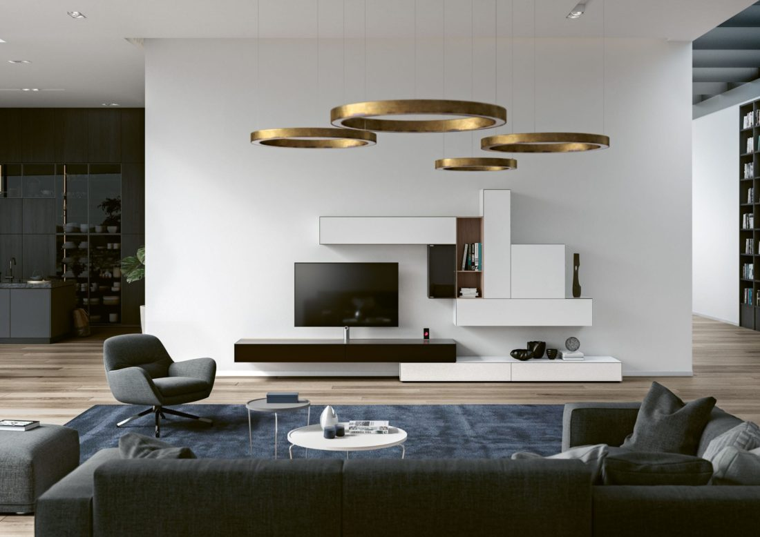 composition AMENO by Spectral - with integrated tv and audio system