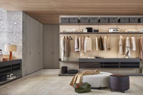 Open wardrobes